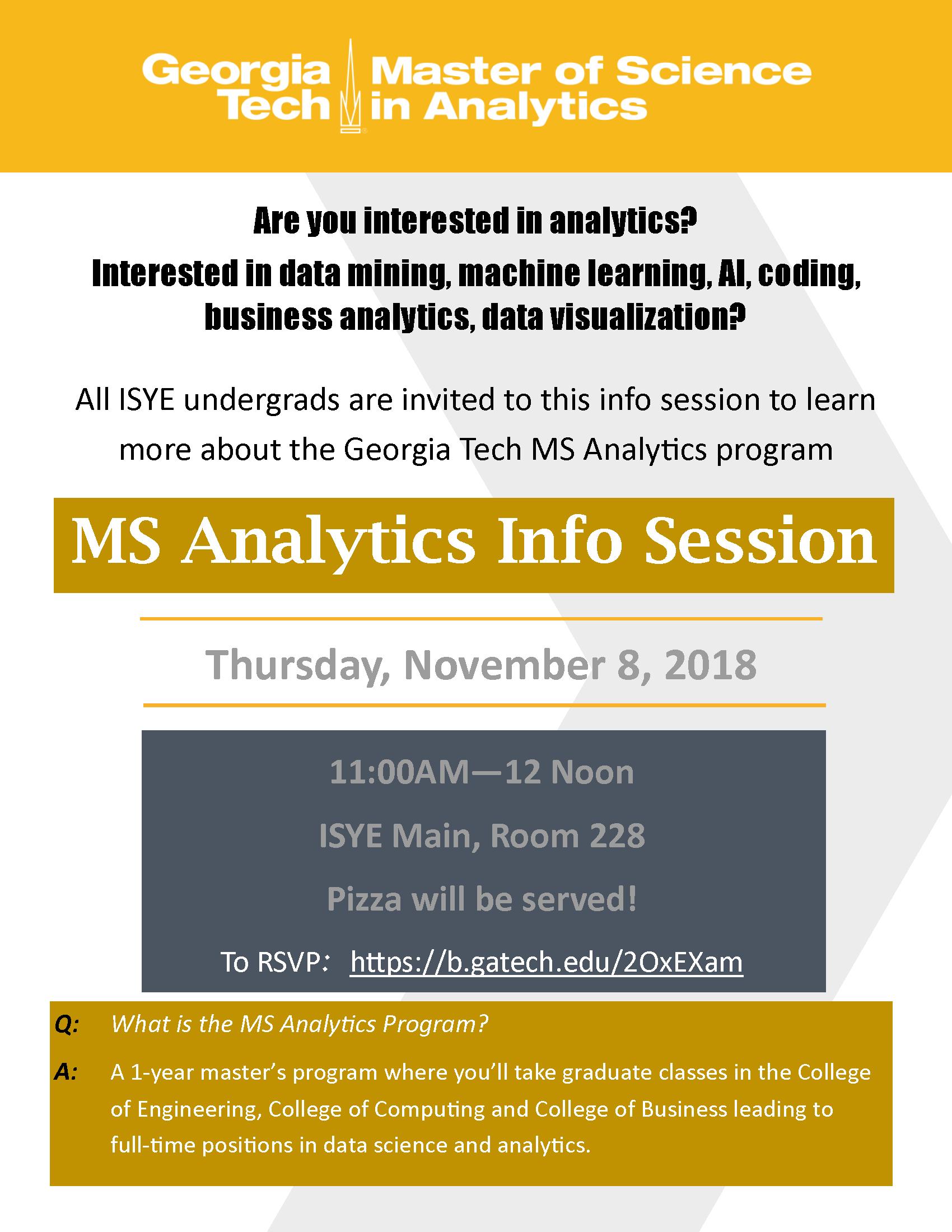 MS Analytics Info Session | November 8 | 11am – INTA Advising Blog