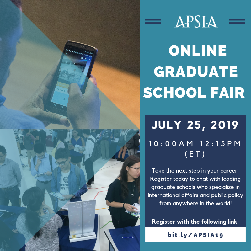 APSIA Online Graduate School Fair – July 25 – INTA Advising Blog